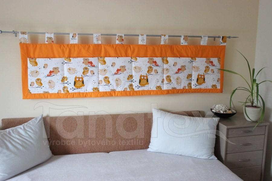 Kapsář - Oranžový - sovičky