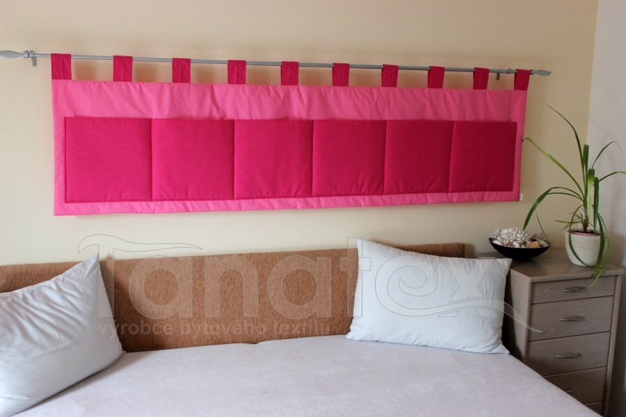 Kapsář - Uni středně růžový - sytě růžové kapsy