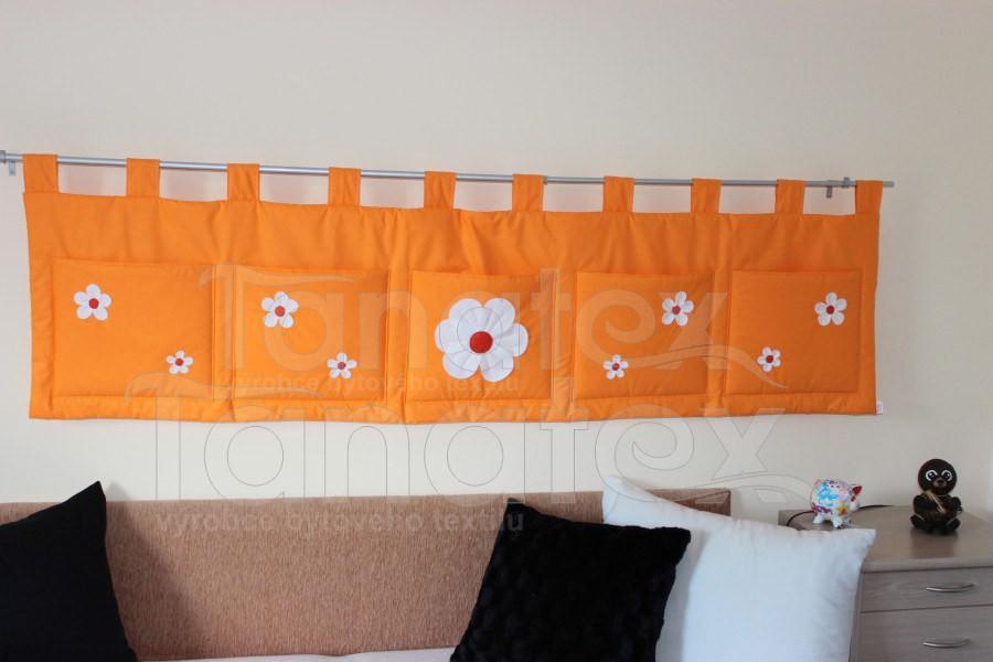 Kapsář - Oranžový s kytičkami