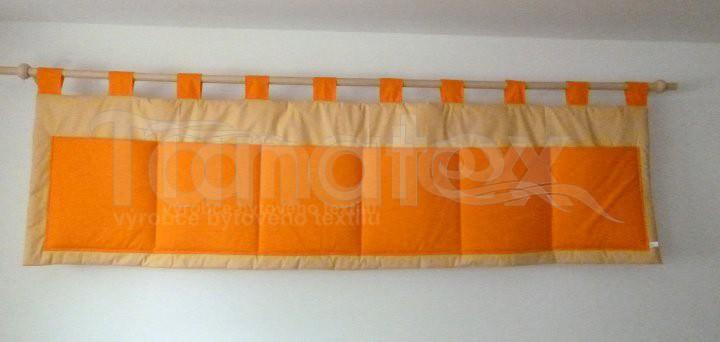 Kapsář - Uni béžový - oranžové kapsy