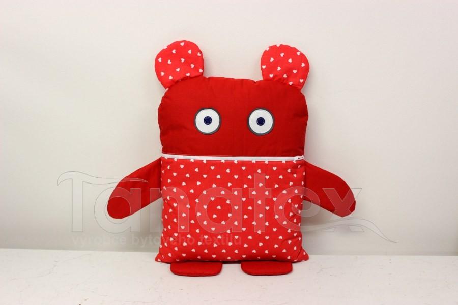 Pyžamožrout - Červený se srdíčky