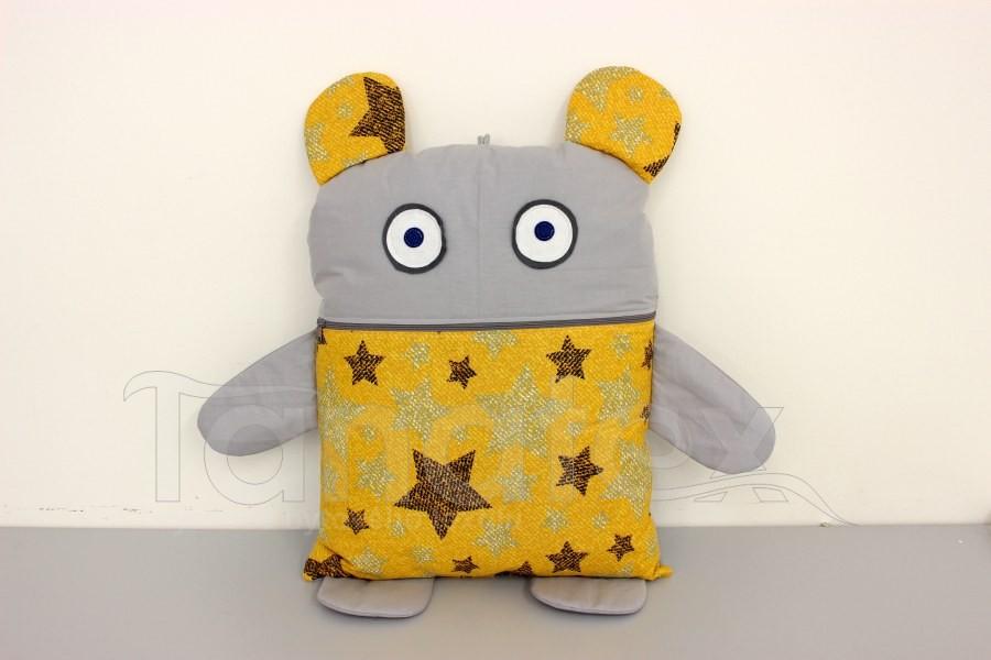 Pyžamožrout - Hořčicové hvězdy s uni šedou